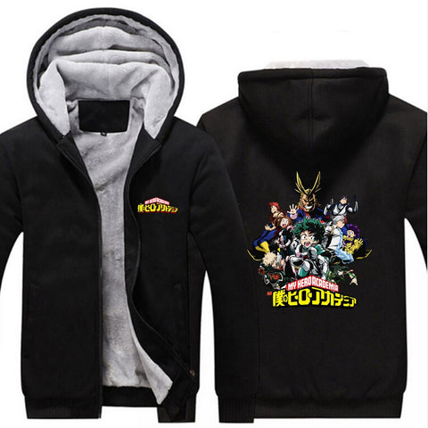 Veste polaire my hero academia full noir