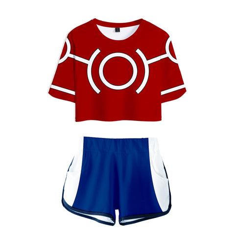 Ensemble Short t shirt Mha femme All Might