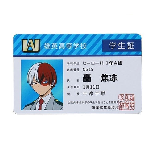 Carte My Hero Academia Shoto Todoroki