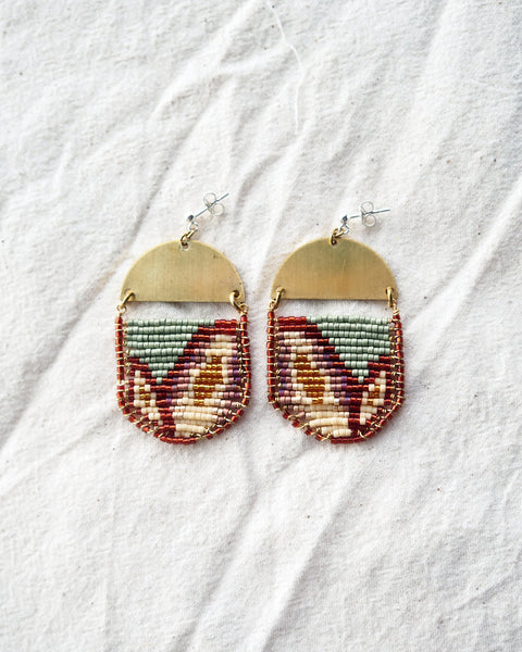 Galia Earrings, Sage