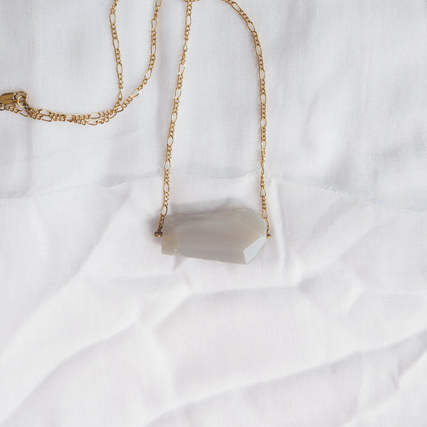 Grey Agate Slab Necklace
