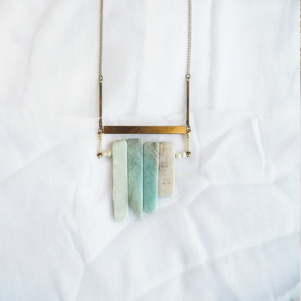 Amazonite Fringe Necklace