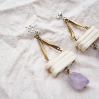 Rockefetti Necklace and Tidal Earrings (Amethyst) Bundle