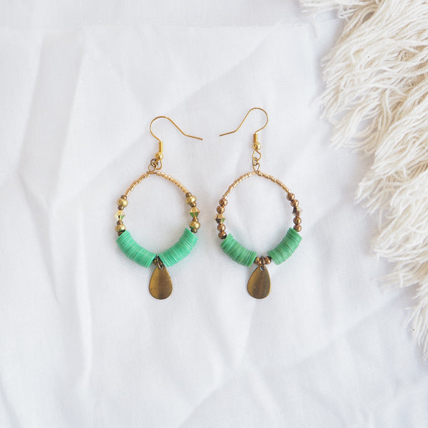 Arabesque Green Earrings