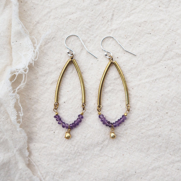 Dew Earrings (Amethyst)