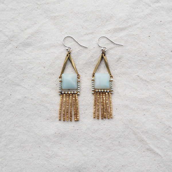 Kula Petite! Earrings (Amazonite)