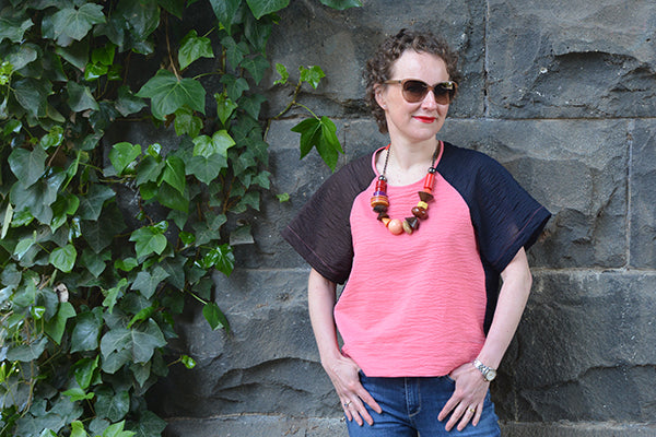 Aeolian tee sewing pattern bloglessanna colour blocking