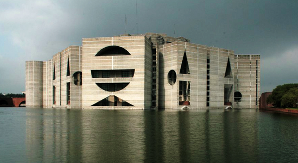 House of Parliament, Bangladesh. Architects Muzharul Islam and Louis Kahn.
