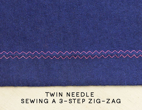 twin needle three step zig-zag stitch knit hem pattern fantastique sewing patterns