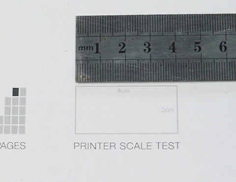 Measuring the box on page one of the pattern to ensure it is printed to scale