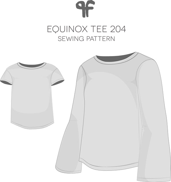 graphic about T Shirt Pattern Printable titled Equinox Tee (PDF Published) Habit Fantastique