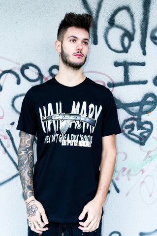 "Man T-Shirt ""Hail Mary"" - De Puta Madre 69 Official Online Store - De Puta Madre Black"