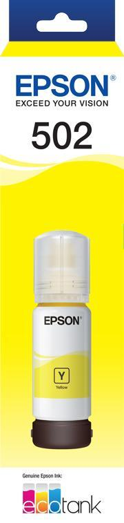T502 Yellow Ink Bottle - ET-2700, ET-2750, ET-3700, ET-4750