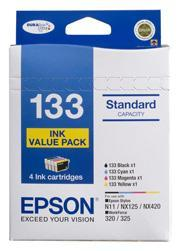 EPSON 4 STANDARD CAPACITY T133 INKS VALUE PACK (4 COLOURS)