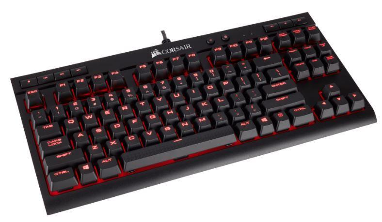 Corsair Gaming K63 - Compact Mechanical Keyboard, Backlight Red LED, Cherry MX Red
