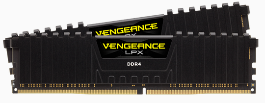 CORSAIR Vengeance LPX DDR4, 3600MHz 32GB 2 x 288 DIMM, Unbuffered, 18-22-22-42, black Heat spreader,1.35V, XMP 2.0,for AMD Ryzen