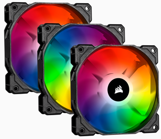 CORSAIR iCUE SP120 RGB PRO Performance 120mm Triple Fan Kit with Lighting Node CORE