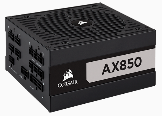 AX Series, 850 Watt, Titanium, Fully Modular Power Supply, AU Version