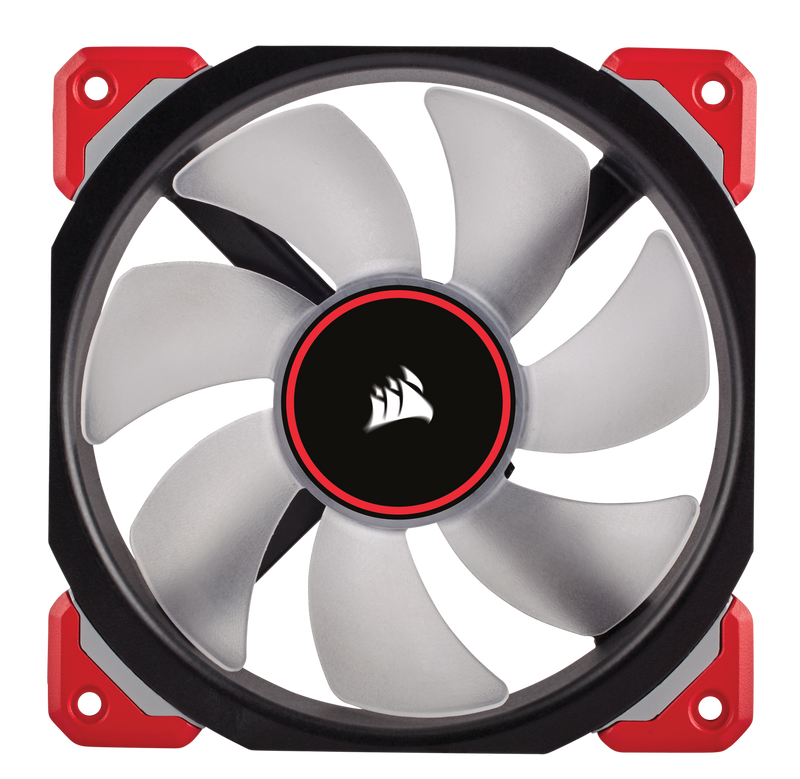 Corsair ML120 PRO LED, Red, 120mm Premium Magnetic Levitation Fan