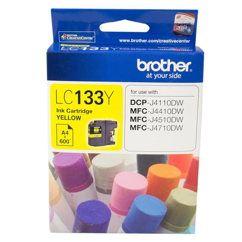 YELLOW INK CARTRIDGE TO SUIT DCP-J4110DW/MFC-J4410DW/J4510DW/J4710DW - UP TO 600 PAGES