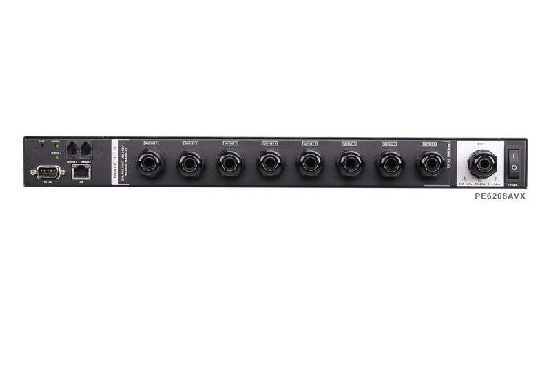 Aten 8 Port 1U 16A Smart Terminal block power Input PDU. Bank level metering, supports SNMP and Telnet and serial control.