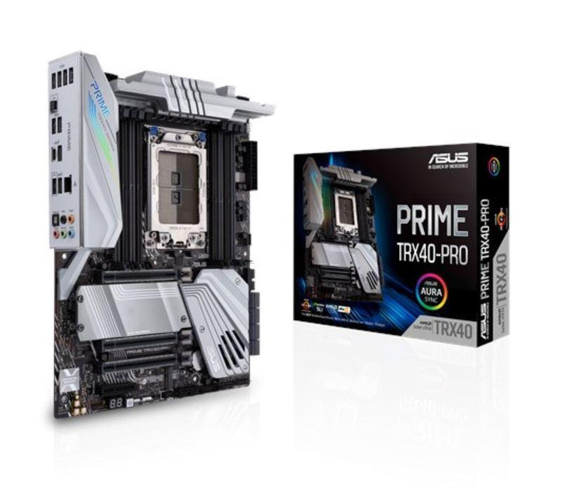 AMD TRX40 ATX motherboard sTRX4 for 3rd Gen Ryzen Threadripper-series processors with 16 TDA21462 power stages, DDR4 4666+ MHz (O.C.), triple PCIe 4.0
