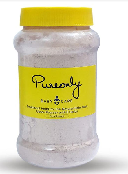 Step by Step Process : Bathing your baby with PureOnly Traditional Ubtan Powder