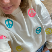 PEACE Layer Cake Scatter Organic Sweatshirt