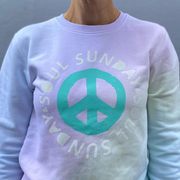 S&S x Two and Seven Rainbow Pastel Peace Jumper