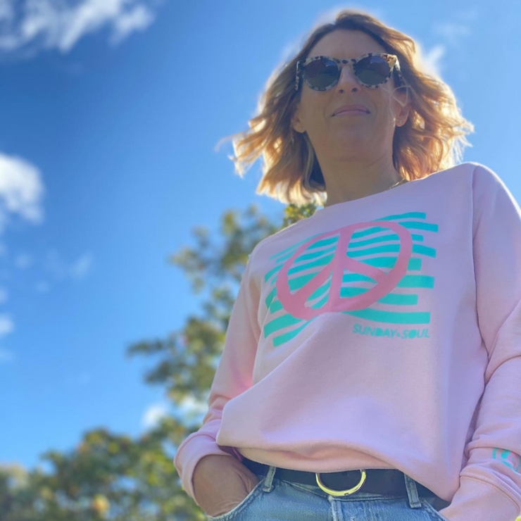 Peace Pink & Teal  Sweatshirt