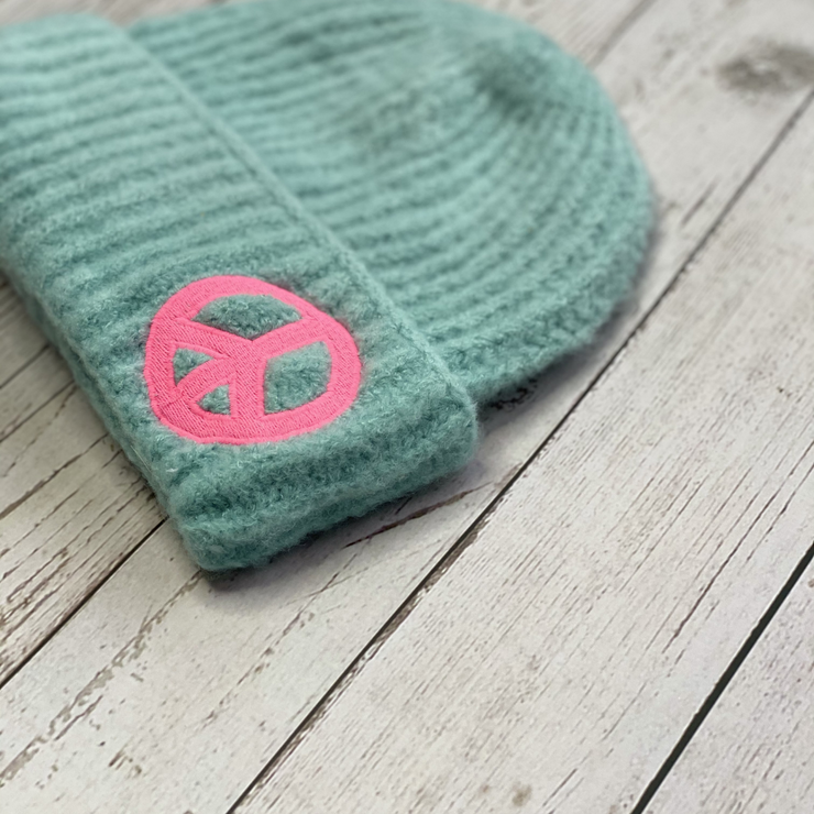PEACE Pistachio Extra Snuggly Beanie