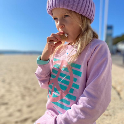 Kids Pink Peace Sweatshirt