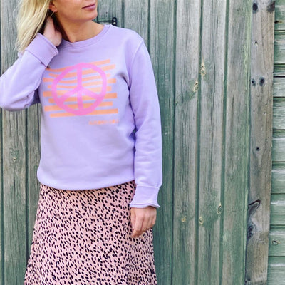 Peace Lilac Sweatshirt