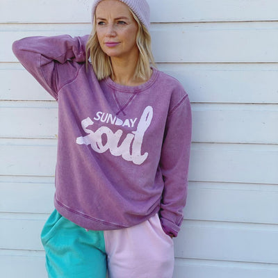 SOUL Grape Vintage Fade Organic Sweatshirt