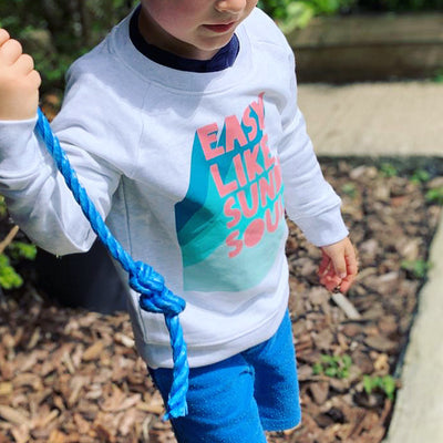 Kids Easy Teal & Grey Sweatshirt