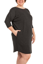 Load image into Gallery viewer, Ruth Dress (charcoal & blue)