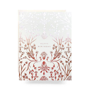 Rose Gold Happy Birthday Greeting Card