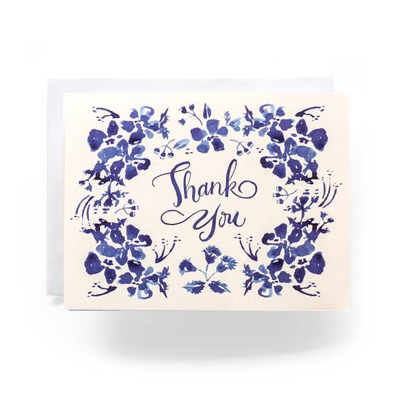 Wildflower Thank You Greeting Card, Box Set of 8
