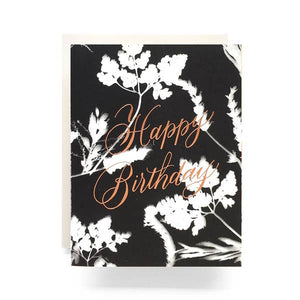 Sunprint Happy Birthday Greeting Card