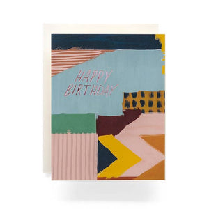Abstract Happy Birthday Greeting Card
