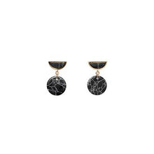 Load image into Gallery viewer, Marble Half Moon Earrings