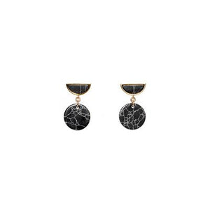 Marble Half Moon Earrings