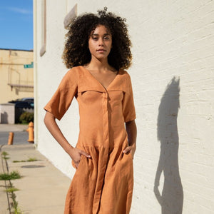 Monet Dress - Terracotta