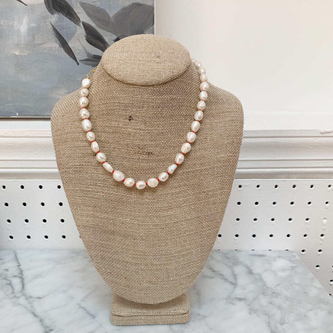 Pearl & Glass Bead Necklace