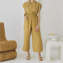 Load image into Gallery viewer, Everyday Crop Pants in Turmeric