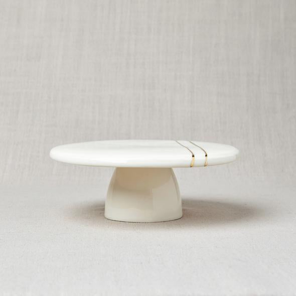 Gold Striped Cake Stand
