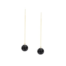 Load image into Gallery viewer, Marble Moon Threader Earrings