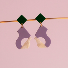 Load image into Gallery viewer, Abya Petite Lilac Earrings