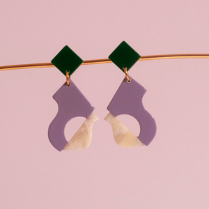 Abya Petite Lilac Earrings