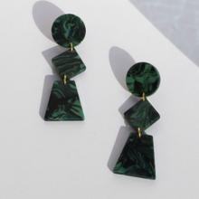 Load image into Gallery viewer, Lupinus Marble Green Earrings